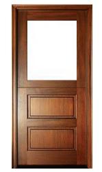 Half-Glass-2-Horizontal-Panels-Door