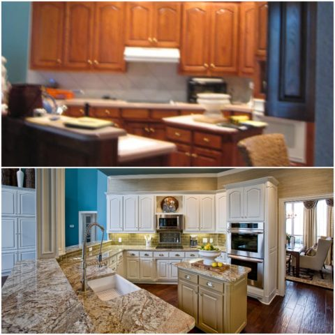 Before and After of Kitchen Facelift #1
