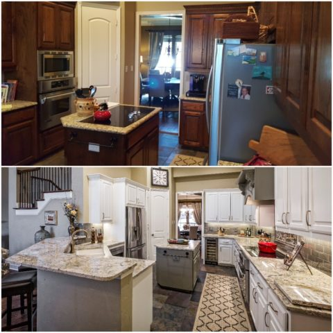 Before and After of Kitchen Facelift #2.