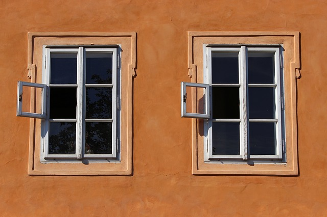 Wooden windows prevent dryrot by painting window exteriors