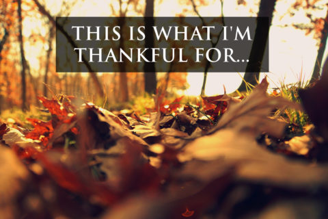 This Is What I'm Thankful For…