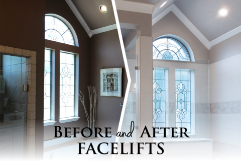[BEFORE/AFTER] A kitchen AND bathroom facelift…