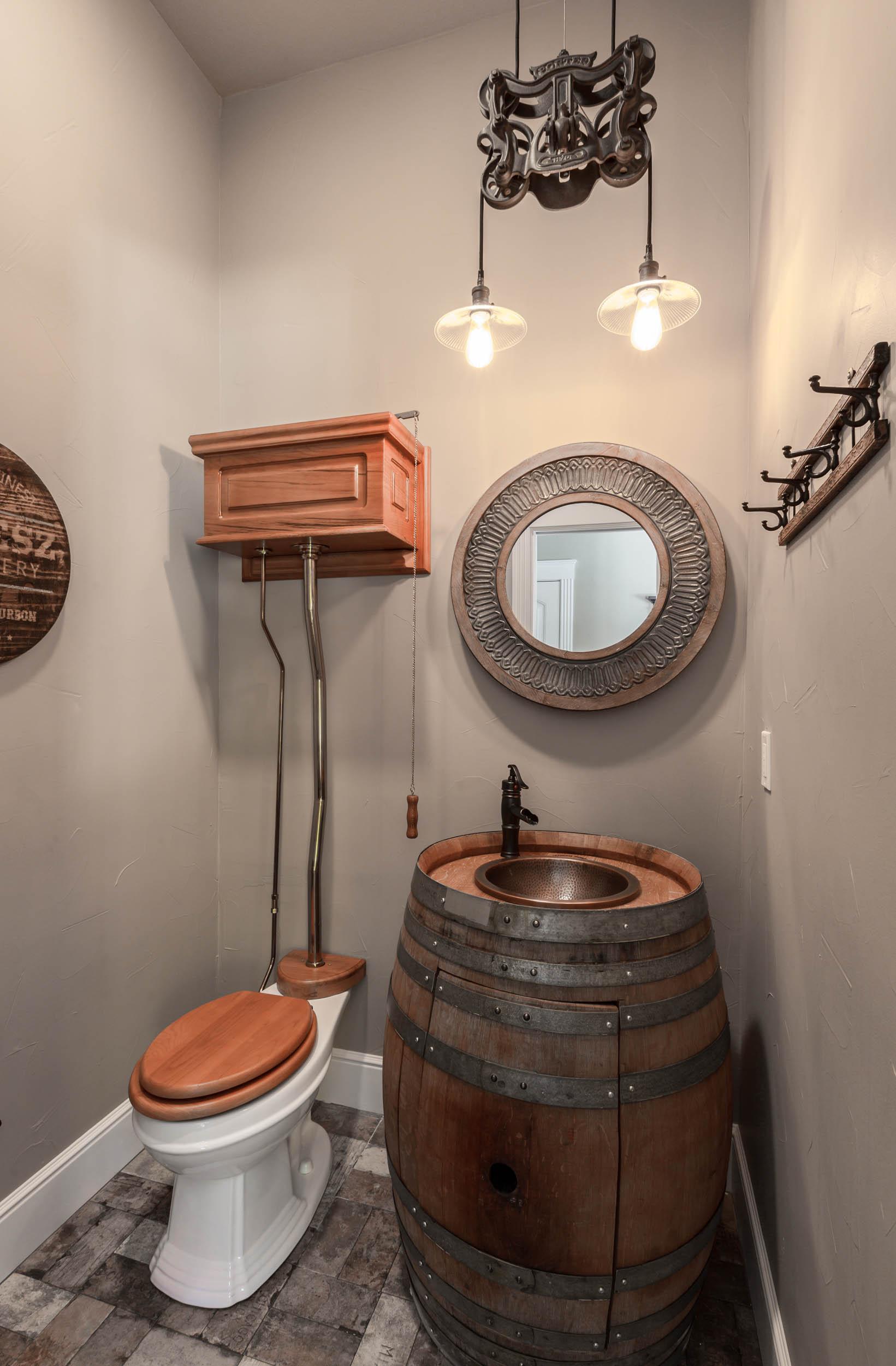 farmhouse style bathroom custom sink-