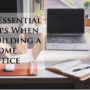 9 Essential Tips When Building a Home Office