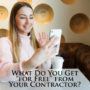 "What Do You Get ""for Free"" from Your Contractor?"