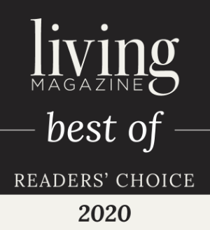 badge for living magazine best of local remodelers 2020