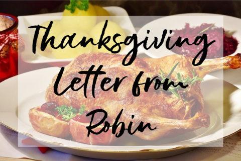 2020 Thanksgiving Letter from Robin