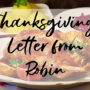 2020 Thanksgiving Letter from Robin