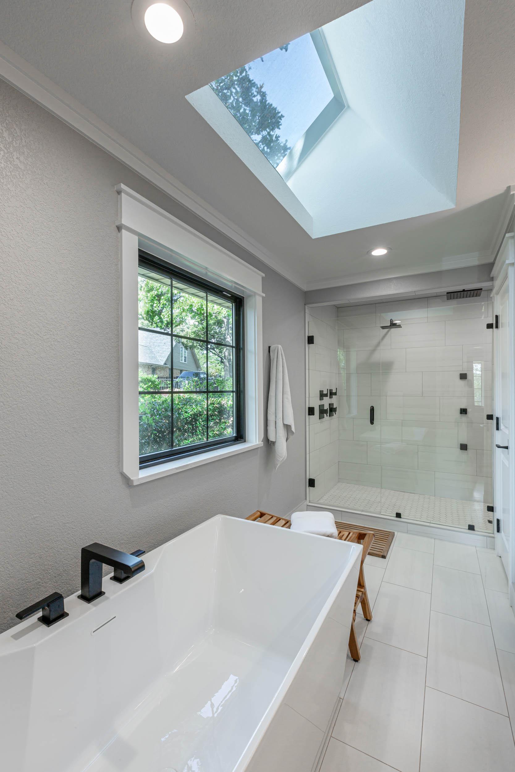 walk-in shower bathroom remodel