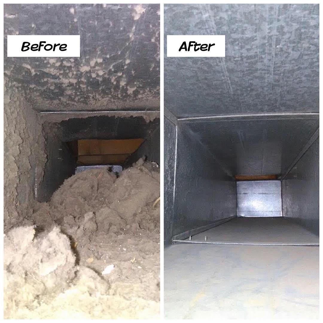 duct cleaning video inspection before and after