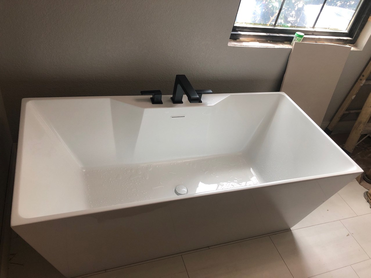during picture of bathroom full remodel of bathtub install
