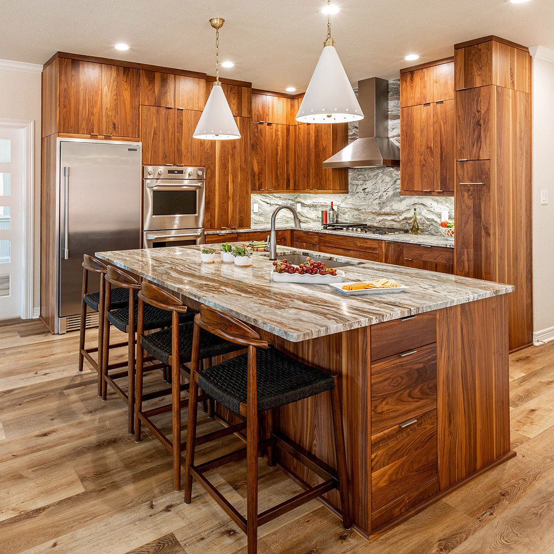 Kitchen remodel by Signature Home Services with custom cabinetry