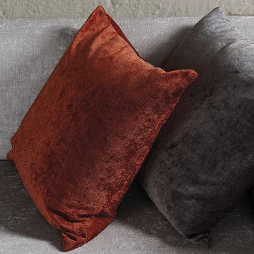 Performance fabric velvet on throw pillows