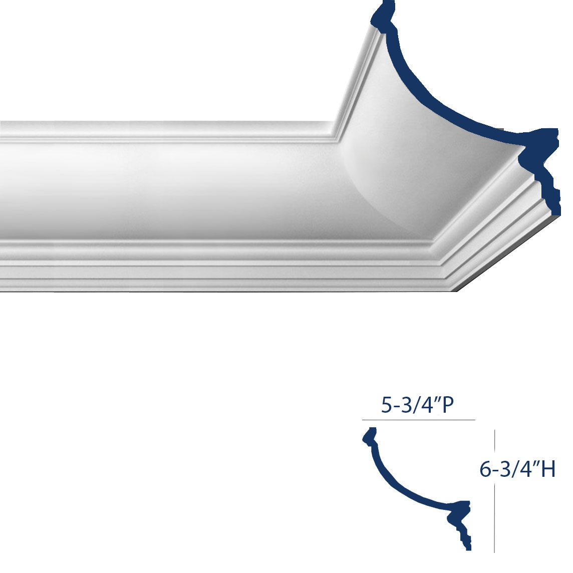 types of crown molding by profile