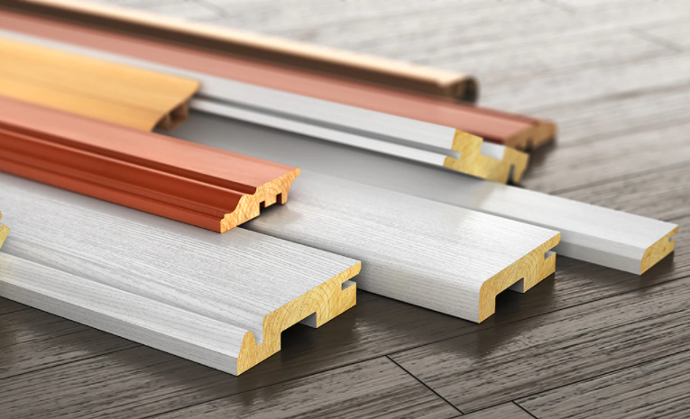 types of baseboard materials and shapes