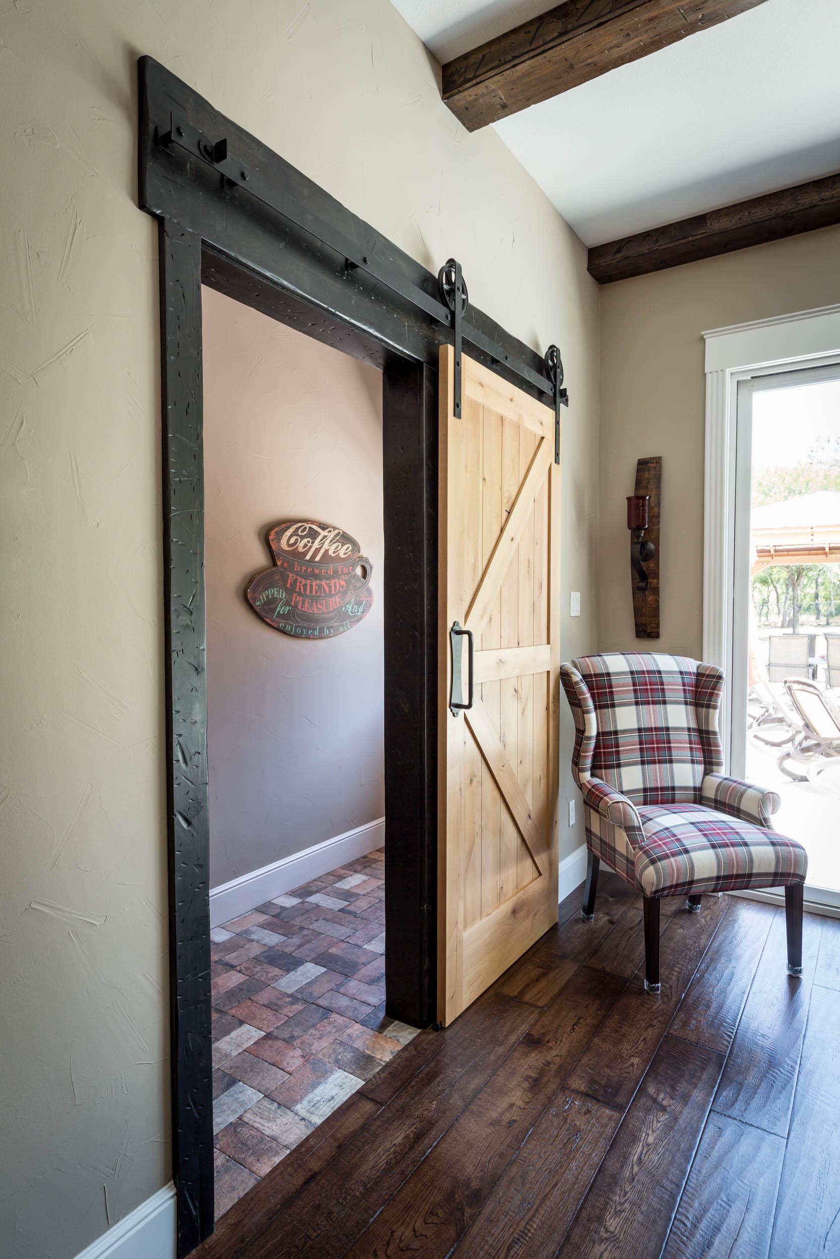 Custom solid wood barn door