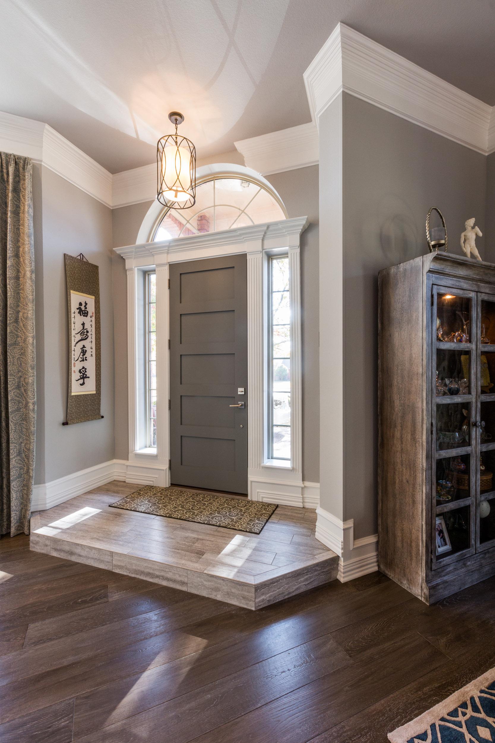 New front door with solid wood