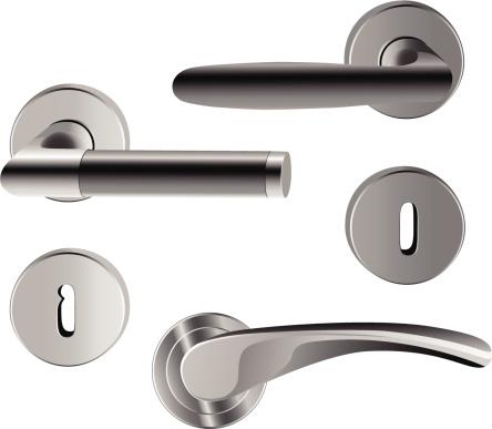 Different types of straight door handles